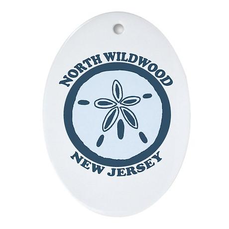 Wildwood NJ - Sand Dollar Design Ornament (Oval)