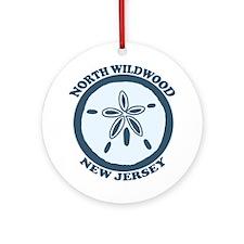 Wildwood NJ - Sand Dollar Design Ornament (Round)