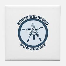 Wildwood NJ - Sand Dollar Design Tile Coaster
