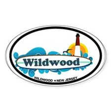 Wildwood NJ - Surf Design Decal