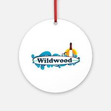 Wildwood NJ - Surf Design Ornament (Round)