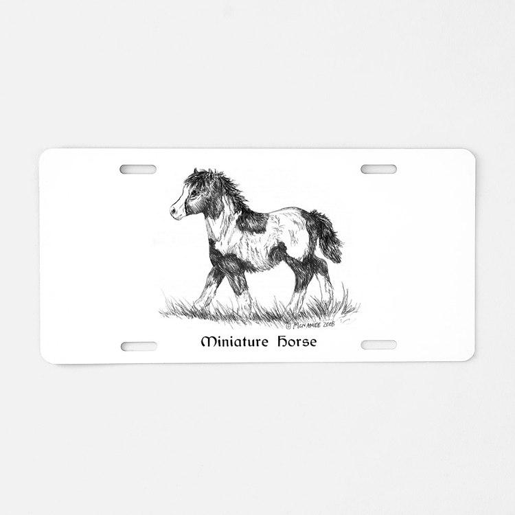 Miniature Horse Foal Aluminum License Plate
