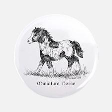 "Miniature Horse Foal 3.5"" Button"