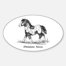 Miniature Horse Foal Sticker (Oval)