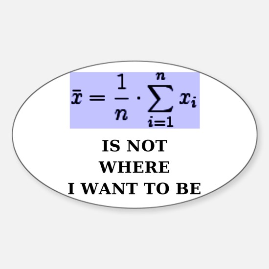 Cute Equation Sticker (Oval)