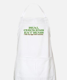 Real Chickens Eat Bugs Apron