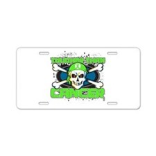 Tougher Than Lymphoma Aluminum License Plate