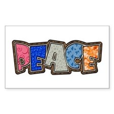 Peace Quilt Rectangle Decal