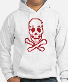 Digital Skull and Crossbones Hoodie