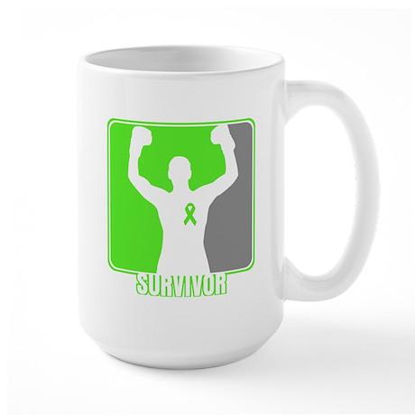 Lymphoma Male Survivor Large Mug