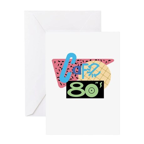 Cafe 80s Greeting Card