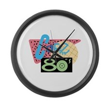 Cafe 80s Large Wall Clock