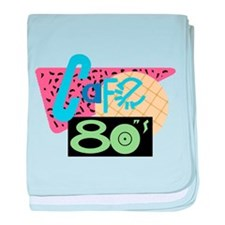 Cafe 80s baby blanket
