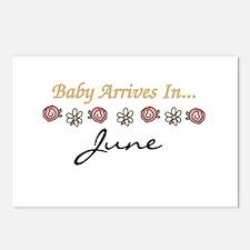 Baby Arrives in June Postcards (Package of 8)