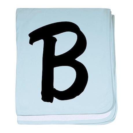 Letter B baby blanket