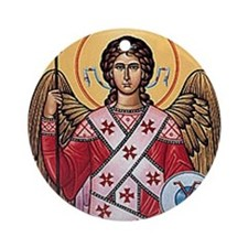 The Archangel, Saint Michael Ornament (Round)