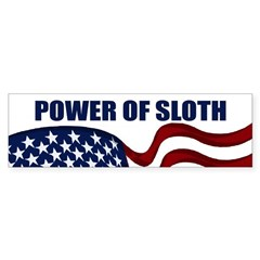Power of Sloth bumper sticker