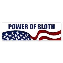 Power of Sloth bumper sticker