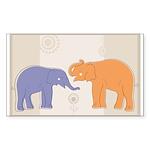 ELEPHANTS Sticker (Rectangle 50 pk)