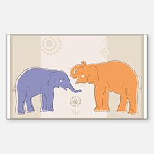 ELEPHANTS Sticker (Rectangle)