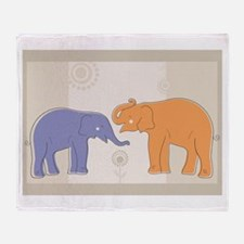 ELEPHANTS Throw Blanket