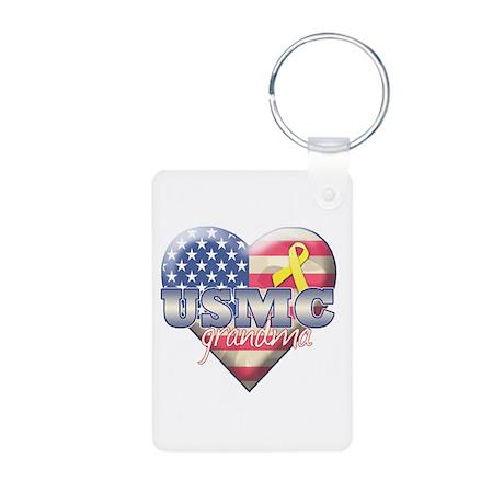 USMC Grandma - Aluminum Photo Keychain