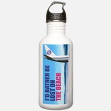I'd rather be lost on the beach Water Bottle