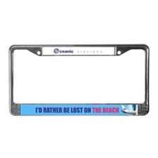 I'd rather be lost on the beach License Plate Fram