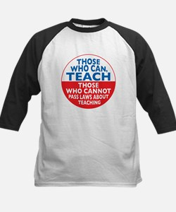 Those Who Can Teach those who Kids Baseball Jersey