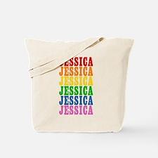 Rainbow Name Tote Bag