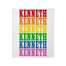 Rainbow Name Throw Blanket