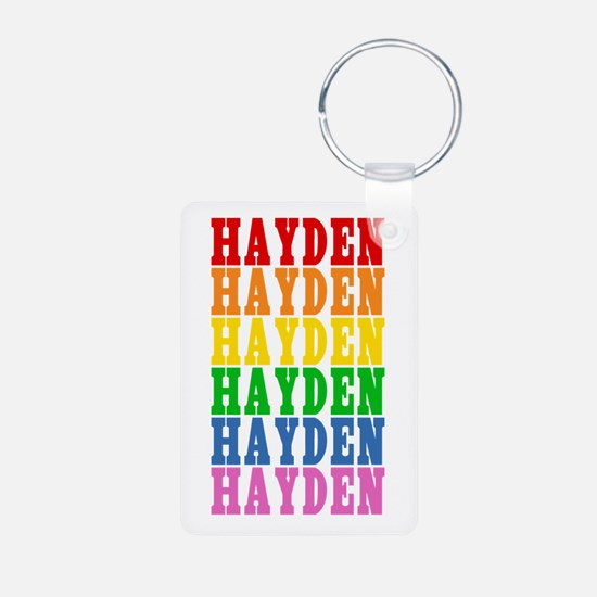 Rainbow Name Aluminum Photo Keychain