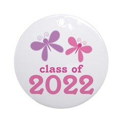 2022 Girls Graduation Ornament (Round)