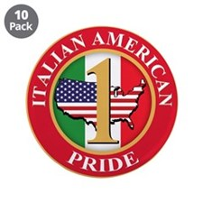"Italian american Pride 3.5"" Button (10 pack)"