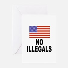 No Illegals Immigration Greeting Cards (Package of