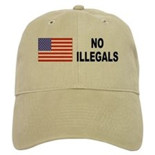 No Illegals Immigration Baseball Cap
