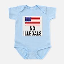 No Illegals Immigration Infant Creeper