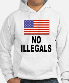 No Illegals Immigration (Front) Hoodie