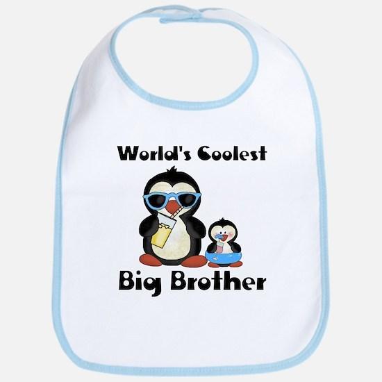 Coolest big brother penguin Bib