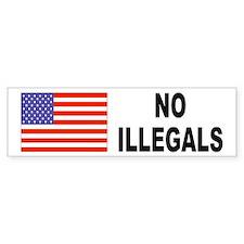 No Illegals Immigration Bumper Bumper Sticker