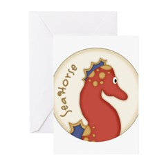 seahorse Greeting Cards (Pk of 20)
