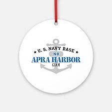 US Navy Apra Harbor Base Ornament (Round)