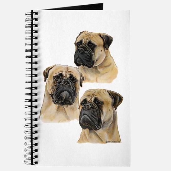 Three Bullmastiff Heads Journal