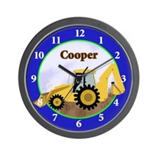 Construction Backhoe Wall Clock - Cooper