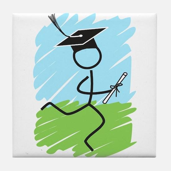 Graduate Runner Grass Tile Coaster