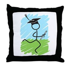 Graduate Runner Grass Throw Pillow