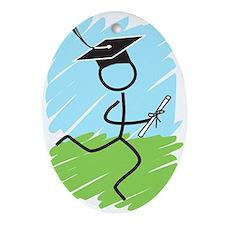 Graduate Runner Grass Ornament (Oval)