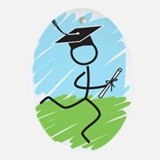 Graduate Runner Grass Ornament (Oval)