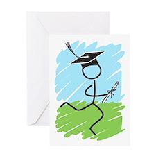 Graduate Runner Grass Greeting Card