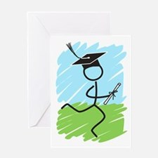 Graduate Runner Grass Greeting Card